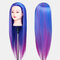 Multicolor Hairdressing Training Head Model Braided Disc Hair Salon Hairdresser Practice Mannequin - 22