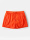 Men Casual Pure Color Short Pants Mesh Liner Quick Drying Waterproof Sport Shorts - Red