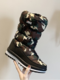 Women Snow Boots Casual Warm Round Toe Mid-Calf Flat Cotton Boots - Camouflage