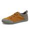 Men Fabric Splicing Non Slip Elastic Band Sport Casual Shoes - Yellow