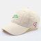 Men & Women Embroidered Apple Pattern Embroidered Letter Baseball Cap - Khaki
