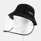COLLROWN Detachable Sun Visor Fisherman Hat Anti-fog Cover Face - Black
