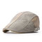 Mens Womens Summer Cotton Washed Beret Cap Duck Hat Sunshade Casual Peaked Forward Cap