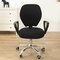 Split Computer Office Chair Cover Stretch Desk Task Rotat Seat Covers Slipcover - Black