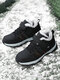 Women Round Toe Causual Antiskid Wearable Sports Outdoor Shoes - Black