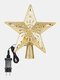 Christmas Tree Topper Star Lights 3D Top Light Projection Lamp Christmas Party Decoration Home Rotation Projector - #01