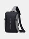 Casual Oxford Cloth Business USB Charging Large Capacity Zipper Front Chest Bag - Gray