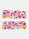 Green Plant Flower Butterfly Pattern Nail Sticker Painting Style Watermark Nail Sticker - #06