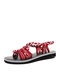 Women Casual Soft Comfortable Slip On Sandals - Red
