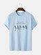 Mens Funny Skeleton Print Halloween Short Sleeve 100% Cotton T-Shirts - Blue