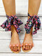 Women Casual Bohemian Style Lace-up Outdoor Beach Gladiator Sandals - Orange