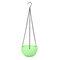 樹脂吊りフラワーポットガーデニングプラントポットフックガーデンプランターバスケットバルコニーの装飾 - 緑
