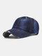 Unisex Denim Solid Color Ripped Edge Sun Protection Fashion Baseball Cap - #05