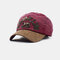 New Fashion Baseball Cap Retro Sun Hat Embroidery Hats - Wine Red