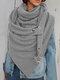 Женское Вельветовые повседневные шарфы с запахом шали Универсальный толстый теплый нагрудник с шалью - Серый