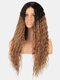3 Colors Front Lace Long Curly Hair Gradient Middle Part High Temperature Fiber Wig - #02