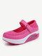 Calçados Esportivos Respiráveis de Velcro Sola de Plataforma