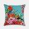 Tropical Flower Pillowcase Flamingo Parrot Leaf Digital Printing Linen Without Core - #3