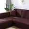 Premium Quality Stretchable Elastic Sofa Covers Premium All-Season Sofa Slip Covers Pet-Friendly and Stain-Resistant - Coffee