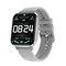 1.78'' High Resolution Full Touch Screen ECG Heart Rate Blood Pressure Oxygen Monitor Multiple Dial IP68 Waterproof BT5.0 Smart Watch - Grey
