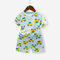 Boy's Cartoon Cars Print Short-sleeved Soft Pajama Set For 1-5Y - As Picture