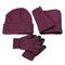 Completo da uomo Guanti sciarpa da cappello calda da sci invernale in misto lana invernale da sci