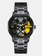 3D Hollow Wheel Hub Design Waterproof Fashion Full Steel Men Watch Quartz Watch - #01