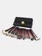 26 Pcs Makeup Brush Set Double Bag Portable Animal Hair Fan Brush Face Makeup Tool - Brown
