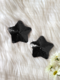 Women Sexy Five-Pointed Star Shaped Sequins Nipples - Black