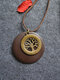 Alloy Wood Vintage Ethnic Chip Big Tree Long Necklace Sweater Chain - Coffee