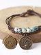 Vintage Constellation Circle-shape Ceramic Alloy Bracelets - #02