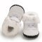 Baby Toddler Shoes Non Slip Soft Plush Warm Lined Snow Boots - White