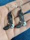 Acrílico Colibrí Paloma Eagle Búho Loro Pendientes Forma de pájaro Pendientes - #06