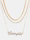 Collar Vintage Doce Constelaciones Mujer Collar de diamantes con incrustaciones de múltiples capas Colgante - Escorpión