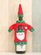 1 قطعة غطاء زجاجة نبيذ الكريسماس عيد الميلاد والتطريز كاريكاتير زينة مائدة الكريسماس - #01