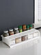 Kitchen Shelf Double-layer Spice Rack With Five-grid Seasoning Box Multi-function Rack With Cutting Board Rack And Knife Rack - #02