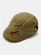पुरुष पत्र कढ़ाई ठोस रंग आकस्मिक फैशन Sunvisor फ्लैट टोपी आगे टोपी टोपी टोपी - हाकी