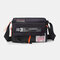 Nylon Waterproof Multi-function Crossbody Bag For Women Men - Black