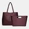 Women 2 PCS 15.6 Inch Laptop Pocket Multi-pocket Large Capacity Removable Key Multifunctional Handbag Tote - Red
