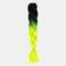 HalloweenColored Gradient Dirty Braids High Temperature Fiber Big Braids Ponytail Hair Extensions - 42