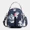 Women Nylon Waterproof Print Casual Shoulder Bag Handbag - #01