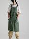 قطن عادي اللون مطبخ مريلة خبز بالزهور قماش مطعم ضد للماء مريلة خبز - أخضر