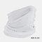 Windproof Sunscreen Dust Mask Headgear Hat - White
