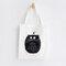 Cute Cat Prints Canvas Shoulder Bag Casual Bag - #04
