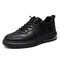 Men Lace-up Cushioned Hard Wearing Casual Camo Pattern Skate Shoes - Black