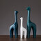 Nordic White Blue Ceramic Figurines Home Decoration Crafts Livingroom Desktop Animal Ornaments  - #4