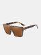 Unisex PC Full Square Frame One-piece Goggles UV Protection Oversized Fashion Sunglasses - Leopard