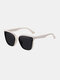 Unisex Wide Frame Fashion Outdoor Cool UV Protection Sunglasses - White