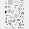 Halloween Face Temporary Tattoo Stickers Waterproof Sweatproof Breathable Art Body Fake Tattoo Transfer Paper - 11