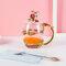 Эмалированная чашка Подарочная чашка Цветочная чашка Стеклянная эмалированная чайная кружка Кофейная чашка с ложкой - #3